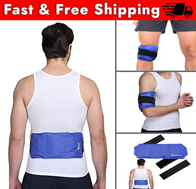 Ice Pack Lower Back Pain, Soft Flexible Reusable Gel Cold Hot Therapy Strap Wrap