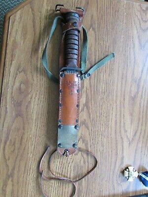 RARE WW2 US Airborne Paratrooper KNIFE M-3 CAMILLUS with US M6 Mills 1943 SNEATH