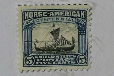 """1926 2 CENT STAMP NORSE AMERICAN ISSUE """"VIKING SHIP"""" C621 #8182 glb"""