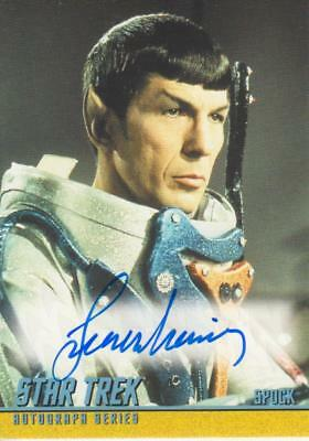 2018 Star Trek TOS Captain's Collection Autograph A280 signed by Leonard Nimoy