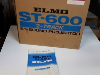 Elmo ST-600 8mm 2 track sound projector black with accessories