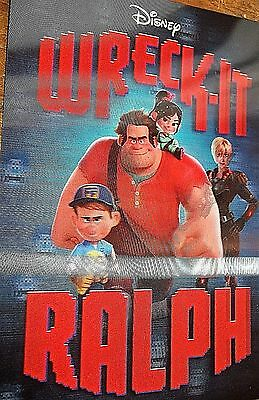 DISNEY'S WRECK-IT RALPH Movie Club Lenticular 3-D CARD New and EXCLUSIVE 2013