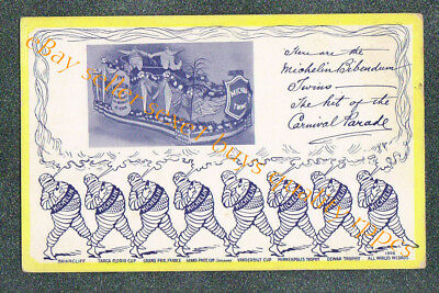 Michelin Tire Automobile Race Winner Advertising Original Postcard Grade 4