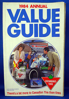 Vintage Canadian Tire Catalogue 1984 Annual Value Guide - Catalog