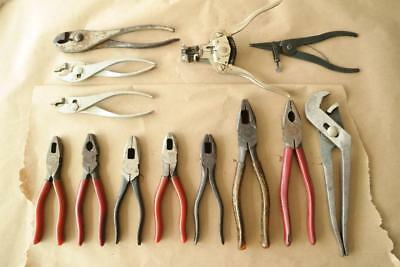 Vintage Side Cutters Pliers Stripper Crescent Truecraft 10  total in Lot No Res