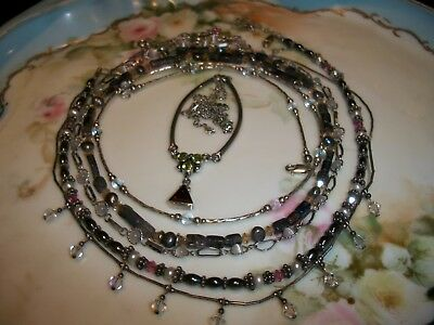 Sterling Silver | Jewelry Lot [ 6 | Necklaces | Gems | Amethyst | Pearls + More