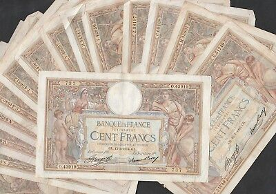 100 Francs Luc Olivier  From France 15 Pcs