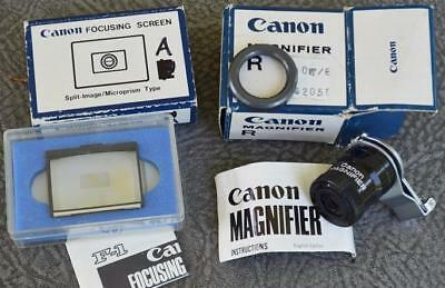 Canon F-1 Magnifier R and Focusing Screen A - Boxed