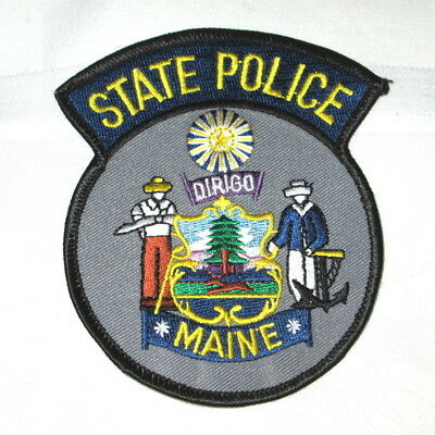 **Large MAINE STATE POLICE PATCH - NEW**