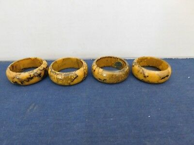 Lot of 4 Plastic Napkin Holders Rings Tortoiseshell