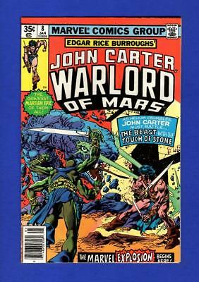 John Carter, Warlord Of Mars #8 Nm 9.4 High Grade Bronze Age Marvel Comic