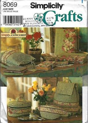 Simplicity 8069 Bags Backpack Album Cover Fanny Pack & More Sewing Pattern Uncut