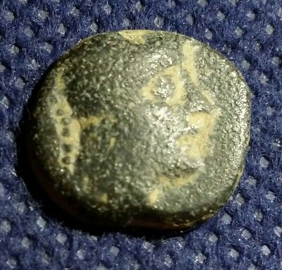 ANCIENT GREEK NABATAEAN BRONZE COIN ANONYMOUS Pseudo ISSUE NIKE ATHENA EARLY BC