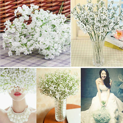 1x Baby's Breath Gypsophila Silk Flowers Bridal Bouquet Party Wedding Home Decor