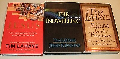 Lot of 3 Christian Based Books by Tim LaHaye - The Merciful God Of Prophecy