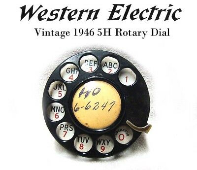 Vintage WESTERN ELECTRIC 1946 5H ROTARY PHONE DIAL