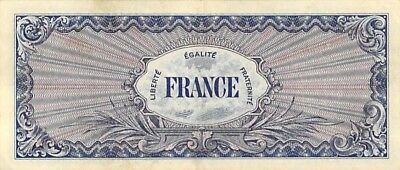 France Wwii Allied Military 2-5-10-50-100 Francs Notes Set Nice