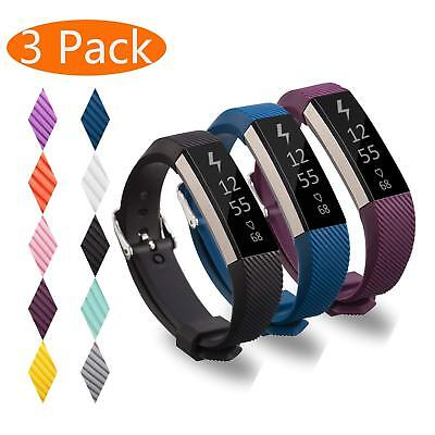 3 Pack Replacement Band for Fitbit Alta HR/Alta Metal Buckle Wristband Strap