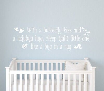 Alphabet Garden Designs Butterfly Kisses Wall Decal