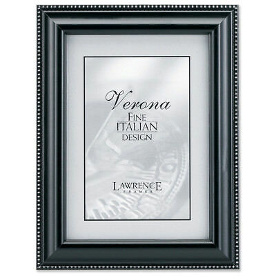 Lawrence Frames Walnut And Black Wood 5 By 7 Picture Frame Gold