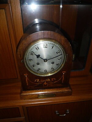 Mantle /bracket Clock  In Wooden Cased  Strike  1Yr Warranty