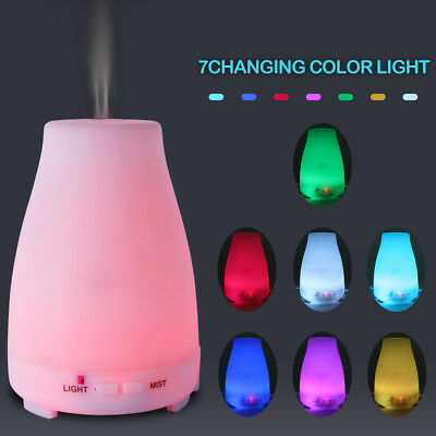 NEW 200ML Ultrasonic Aroma Essential Oil Cool Mist Diffuser Air 7 Colors LED