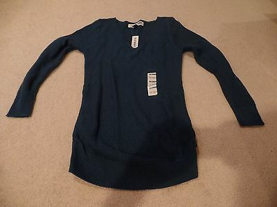 Women Maternity Sweater, Old Navy Pull-Over, Teal, Size: Extra-Small, NWT