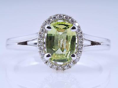 Ring 1,18 Karat Brillanten Chrysoberyll 750 Weiss Gold 18 Karat IGI Expertise