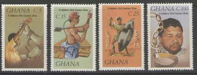 Ghana Sg1212/5 1987 Solidarity With The People Of Southern Africa Mnh