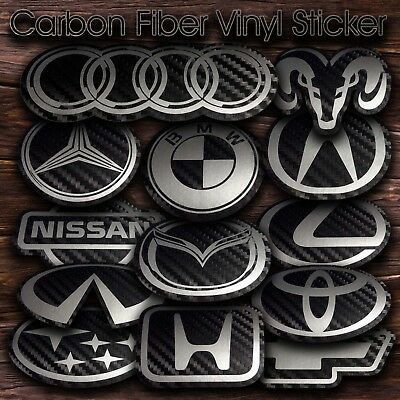 Stickers. Carbon Fiber Vinyl Background And Silver Design Decals 00