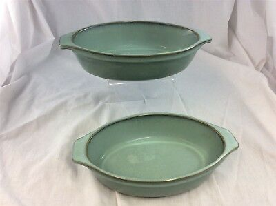 Denby Green Regency - Individual Serving Dish - Oval x2 - Gratin - Vegetable