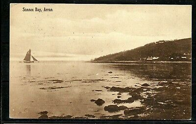 Postcard : Isle of Arran a view over Sannox Bay posted 1909