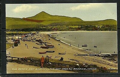 Postcard : Isle of Arran Brodick a view along the beach to Goatfell