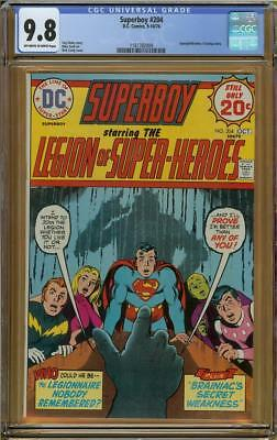 Superboy #204 CGC 9.8 White Pages Only 1 of 3 9.8s! Supergil Brainiac