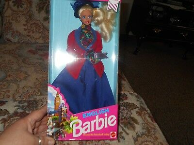 Mattel 1991 Dolls of th World English Barbie in Horseback  Riding Clothes NIP