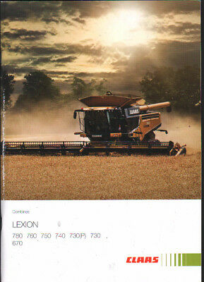 Claas Lexion 780, 760, 750, 740, 730(P), 730 and 670 Combine Brochure Leaflet