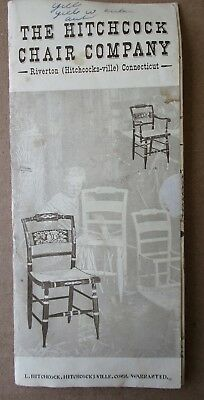 1974 HITCHCOCK CHAIR FURNITURE CO. FOLD OUT BROCHURE 7 page dbl. sided