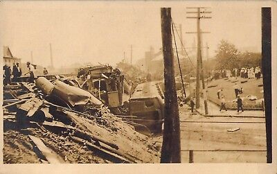 c.'10, Bridgeport, CT, Postally Used,  Train Wreck Real Photo Postcard