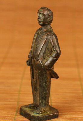 Chinese Old Bronze Hand Carved Lenin person figure Statue Souvenir collection