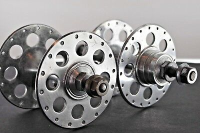 Vintage 1940s-1950s Harden large flange hubs (fixed and freewheel). Good cond.