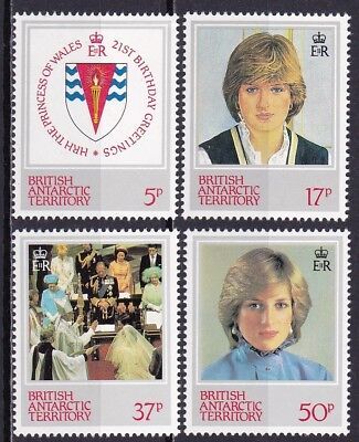 BRITISH ANTARCTIC TERRITORY #92-95 MNH 21st BIRTHDAY OF PRINCESS DIANA