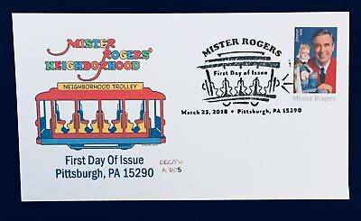 AFDCS 5275 Mister Rogers Neightborhood Trolley Cachet and Slogan Trolley Cancel