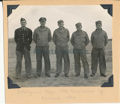 1944 USAAF 435th TCG 77th Troop Carrier Sq Welford Photo Me & Intelligence Staff