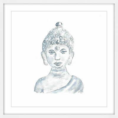 Marmont Hill 'Buddha Statue' by Thimble Sparrow Framed Painting Print