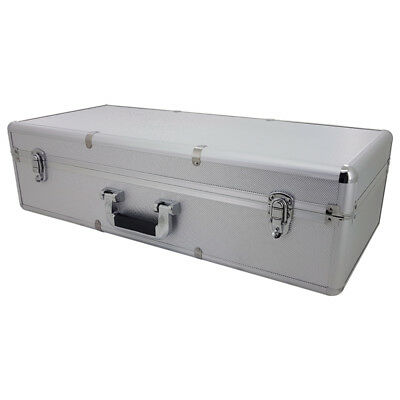 NEW LARGE Aluminium Flight Case 680x300x190mm Tool Box With Foam Block