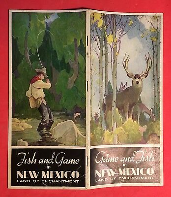 1934 GAME and FISH in NEW MEXICO BROCHURE