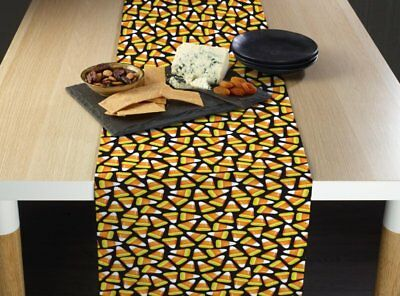 The Holiday Aisle Espana Halloween Candy Corn Milliken Signature Table Runner