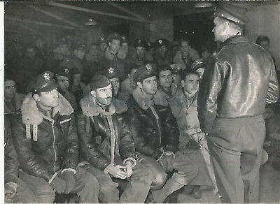 June 6 1944 D-Day USAAF airmen in  briefing from Col Beach? 6x98 Photo