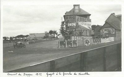 Set of 11 Pictures (plain backs) of Circuit de Dieppe 1912 all with handwritten