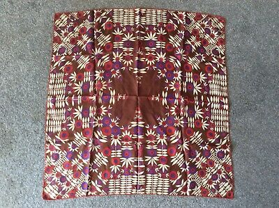 % Vintage Richard Allan 100% Silk Scarf Square Retro Design %